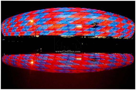 زیباترین استادیوم ها و ورزشگاه های جهان