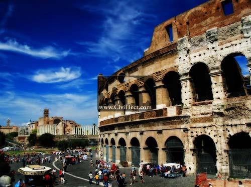 شگفت انگیزترین بناهای روم باستان