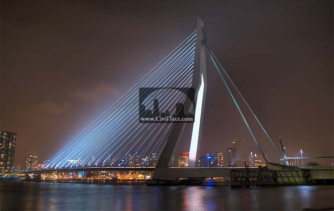 پل اراسموس ( Erasmus Bridge ) هلند