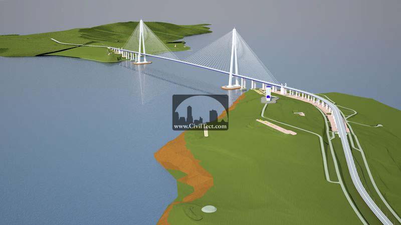 پل جزیره راسکی (Russky Island Bridge)