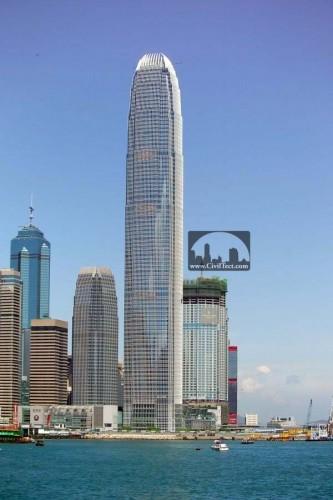 برجهای آی اف سی 1 و آی اف سی 2 در کنار هم - مرکز بین المللی امور مالی هنگ کنگ
