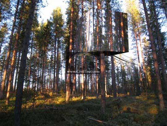 هتل نامرئی جنگلهای سوئد