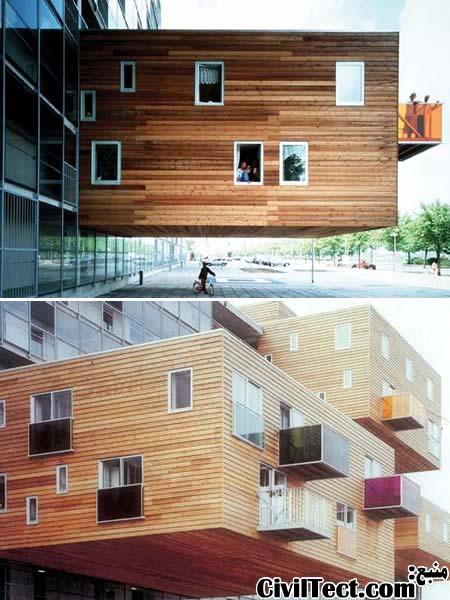 ایده جالب برای رفع مشکل نور ساختمان و مقابله با جاذبه زمین!
