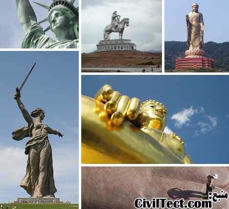 بلندترین مجسمه های جهان – مجسمه های عظیم