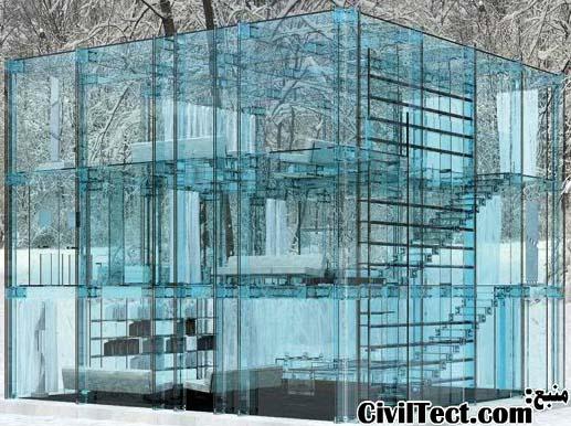 خانه های تمام شیشه!