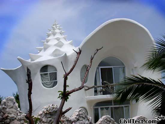 خانه صدف حلزونی (Conch Shell House)