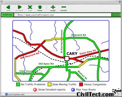 یک نمونه از تصاویر ارسال شده به رانندگان با استفاده از این تکنولوژی