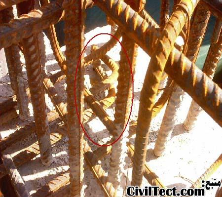 عکسهایی از اشکالات اجرایی در سازه های بتنی (سری ۱)