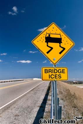 چرا پلها زودتر از دیگر قسمت جاده ها یخ میزنند؟