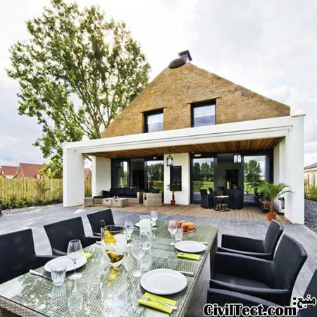 طرح خانه مدرن - سنتی