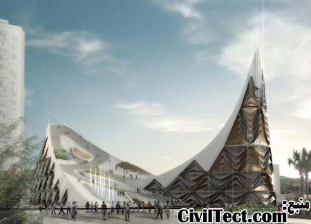 طرح معماری خانه اپرا ایزمیر - ترکیه