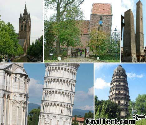 ۱۳ عجایب معماری کج شده در جهان
