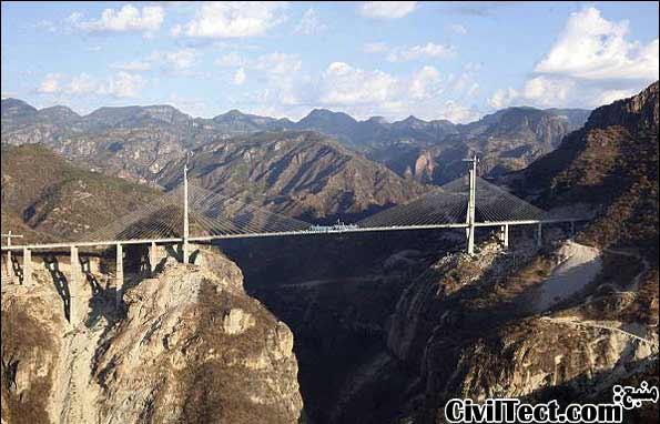 پل بالوآرته - پل Baluarte Bicentennial - بلندترین پل کابلی جهان