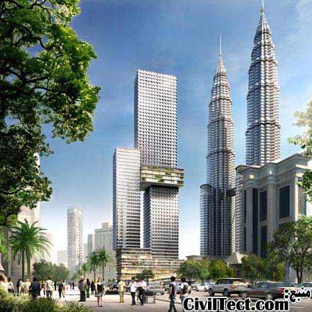 آسمانخراش جدید کوالالامپور با باغچه های معلق