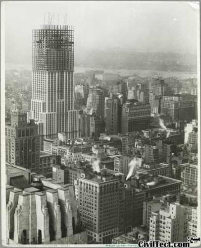 امپایر استیت در حال تکمیل شدن - 76 طبقه از 102 طبقه نهایی