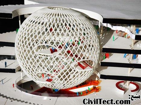سازه تخم مرغی شبکه ای