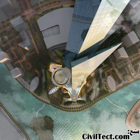 نمایی از تراس آسمان بلندترین برج جهان