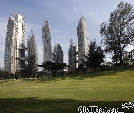 برجهای جدید سنگاپور توسط دانیل لیبسکیند - برجهای دارای انحنا و متصل بهم