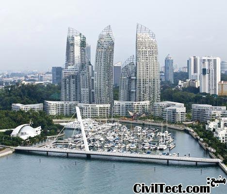 پروژه جدید  دانیل لیبسکیند - برجهای بازتاب برای سنگاپور