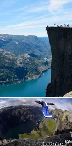 پرش از روی صخره