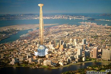 برج Eye in the sky در اوکلند Oakland کالیفرنیا