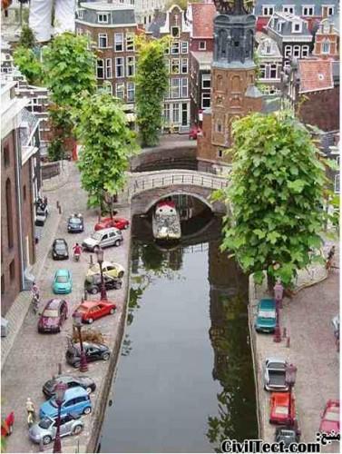 یک نمونه از کانالهای آبی هلند