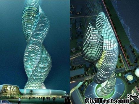 طرح آسمانخراشهای دور هم پیچیده شده - برجهای استثنائی