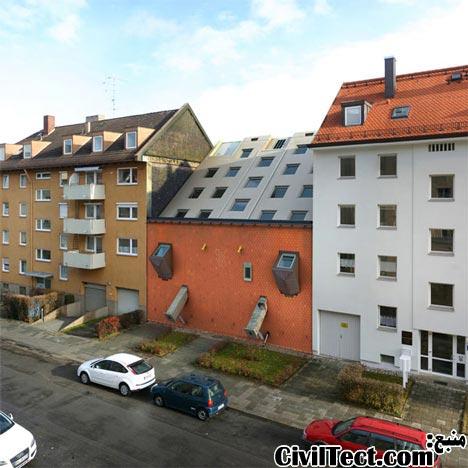 ساختمان برعکس در مونیخ آلمان  ساختمان برعکس در مونیخ آلمان