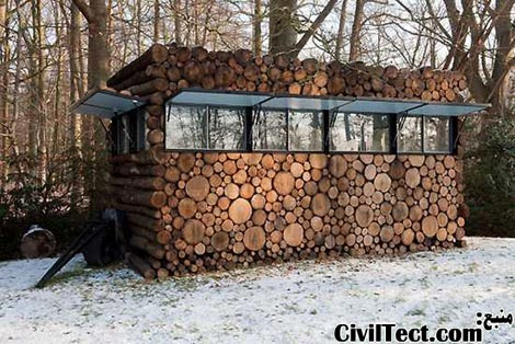کلبه روستایی/کوهستانی توسط Piet Hein Eek