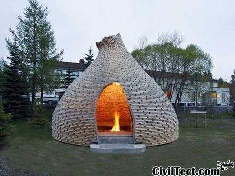 خانه های شومینه ای چوبی توسط Haugen/Zohar Arkitekter