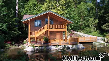 خانه چوبی - ساختمان چوبی - ویلای چوبی