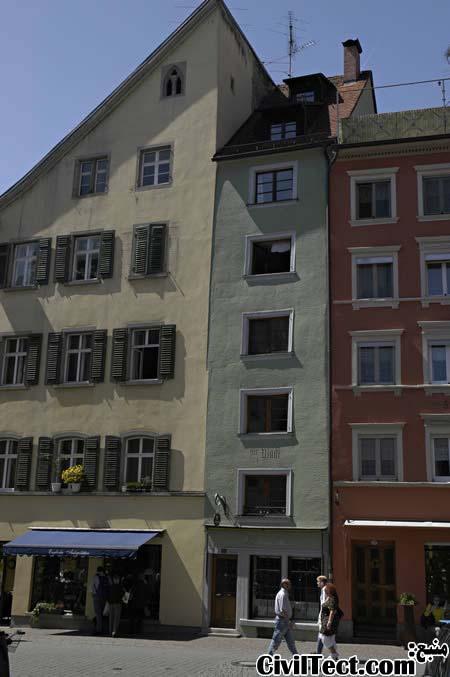 یکی از باریکترین خانه های آلمان