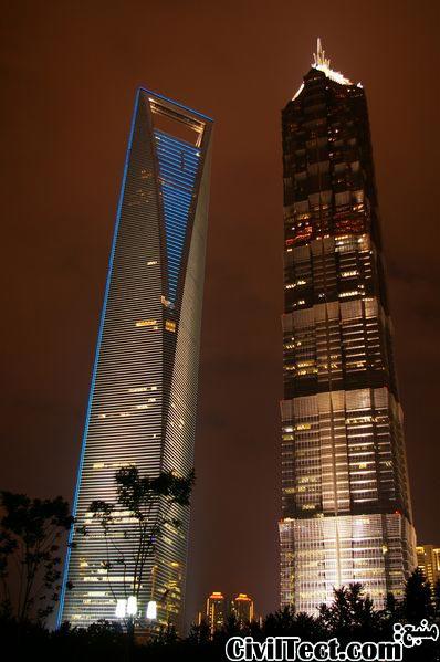 برج جین مائو در کنار برج مروارید شرقی