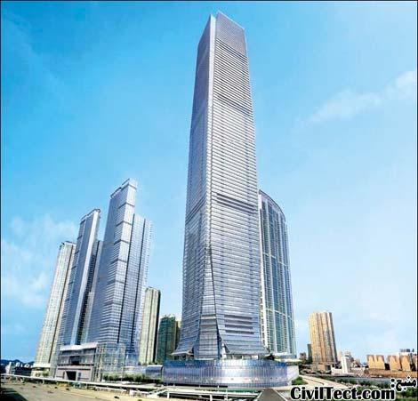 برج مرکز تجارت جهانی - International Commerce Center هنگ کنگ