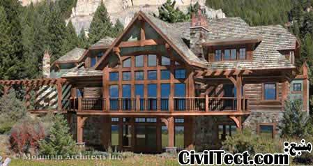 معماری خانه چوبی - طرح خانه چوبی
