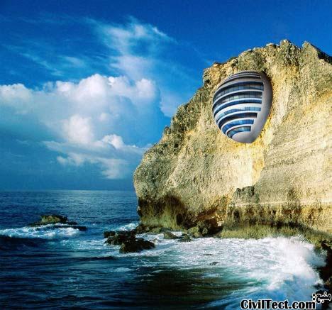 Hotel Sphere on a Cliffside - هتل کروی در لبه صخره - عجیب ترین هتلهای جهان