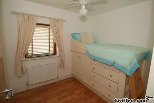بزرگتر نشان دادن خانه - استفاده از کمد در زیر تخت خواب