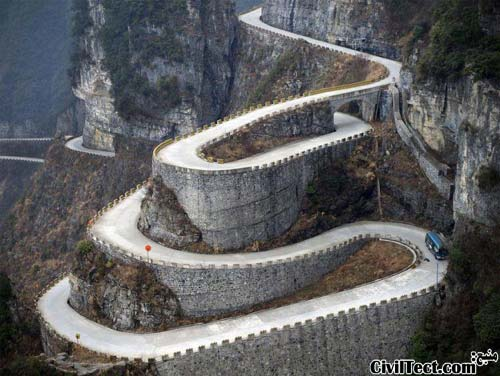 جاده اتصال دهنده بهشت - چین - پر پیچ و خم ترین جاده کوهستانی