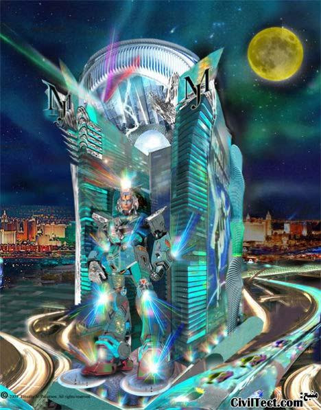 هتل روبات مایکل جکسون - عجیب ترین هتلهای دنیا - طرحهای عجیب معماری