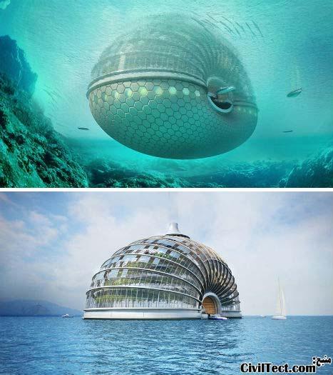 هتل Ark - هتلی شناور بر روی آب