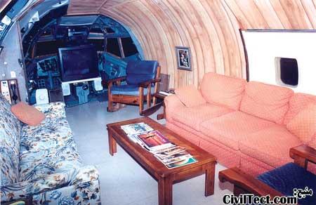 خانه هواپیمایی - خانه ای ساخته شده از هواپیمای جتی