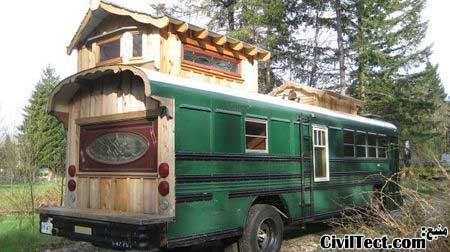 خانه اتوبوسی دو خوابه