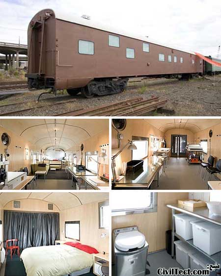 خانه قطاری - تبدیل قطار به آپارتمان شیک