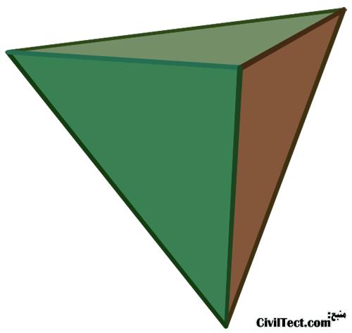 چهاروجهی در هندسه - هندسه در معماری