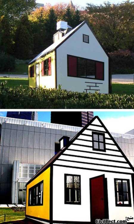 اثر هنری جالب - خانه سه بعدی