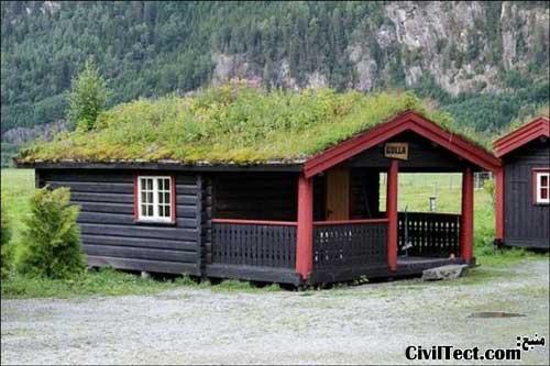 سقفهای چمنی - trovtak - سقف خانه های نروژی