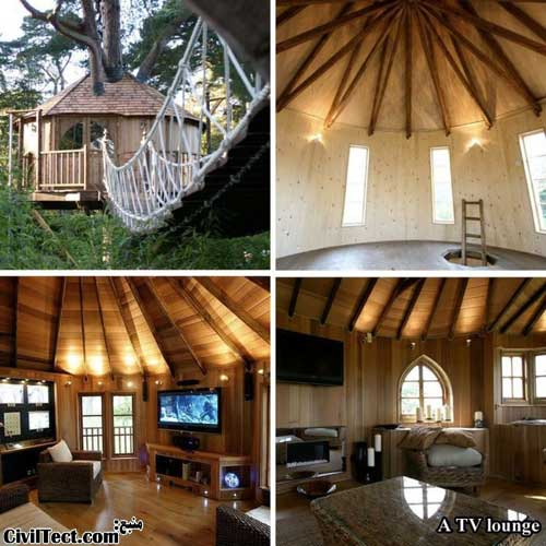خانه درختی - کلبه چوبی