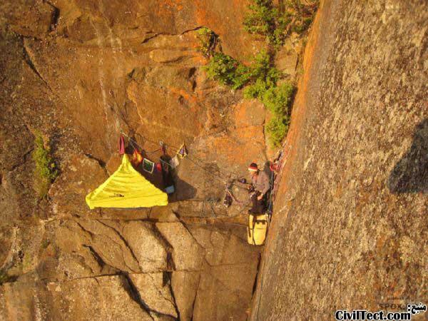 کمپینگ در صخره