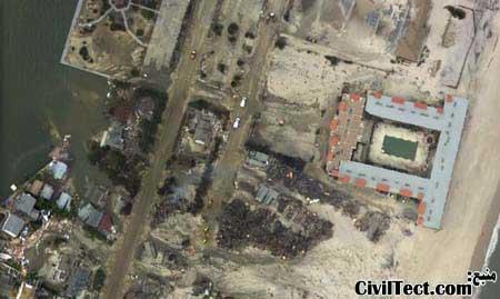 عکسهای هوایی طوفان سندی
