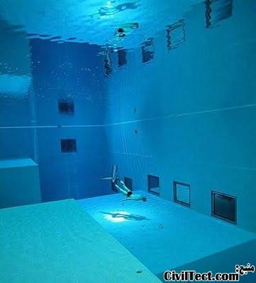 شنا در عمیق ترین استخر جهان